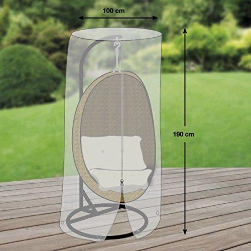 Premium Schutzhülle für Hängesessel/Hängekorb aus Polyester Oxford 600D - lichtgrau - von 'mehr Garten'