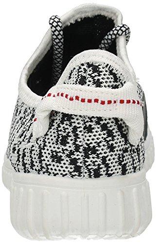 Rosa Femme Creepers Sandales Tissu Robe formateurs Chaussures de Course à Pied Gym Fitness Sport Pompes–Générique Gris
