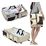 venja Portable Multifunctional Baby Travel Bed Cot/Bassinet And Folding Mummy Diaper Bag