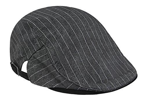 RUIXIB Herren Trendige Vintage Baskenmütze Schiebermütze Golfer mütze Schirmmütze Baumwolle Britischer ()