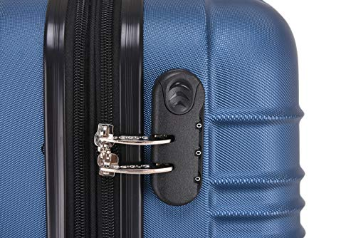 BEIBYE 2088 Zwillingsrollen Reisekoffer Koffer Trolleys Hartschale M-L-XL-Set in 13 Farben (Blau, M) - 4