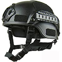 haoyk mich 2000 estilo táctico para Airsoft y Paintball casco con NVG montaje y carril lateral para Airsoft Paintball, negro