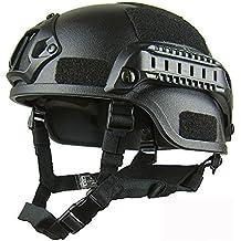 haoyk mich 2000 estilo táctico para Airsoft y Paintball casco con NVG montaje y carril lateral