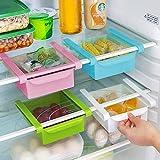 Harshu Piyush Plastic Fridge Storage Organizer Rack , Standard Size , Multicolour -4 Pieces