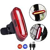 USB-wiederaufladbare Bike-Rückleuchten-Set mit zwei Rädern:Super helle rote Lichter Fahrrad-Sicherheits-Licht LED-vordere und hintere Lichter, IP6X wasserdicht passt auf irgendwelche Fahrräder, Roller, Helme, Rucksack