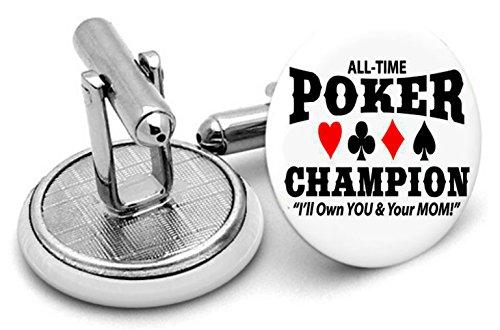 Poker faite à la main Boutons de manchette In- Livrées dans une pochette cadeau Type4