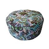 """Coussin Zafu """"Abstract"""" - Coussin de Méditation – Coussin de Yoga (32 cm de diamètre et 16 cm de haut) – 100% coton et cosses de sarrasin – housse lavable – conception unique"""