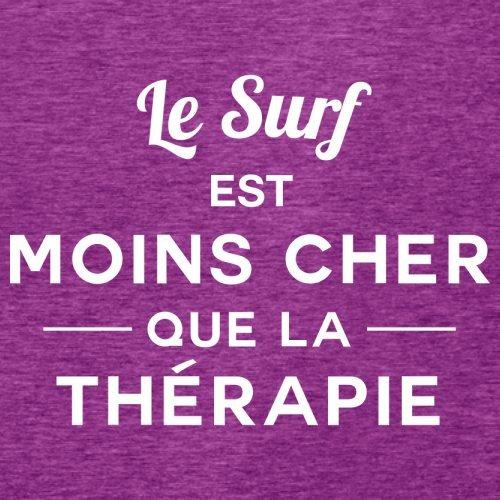 Le surf est moins cher que la thérapie - Femme T-Shirt - 14 couleur Rose Antique