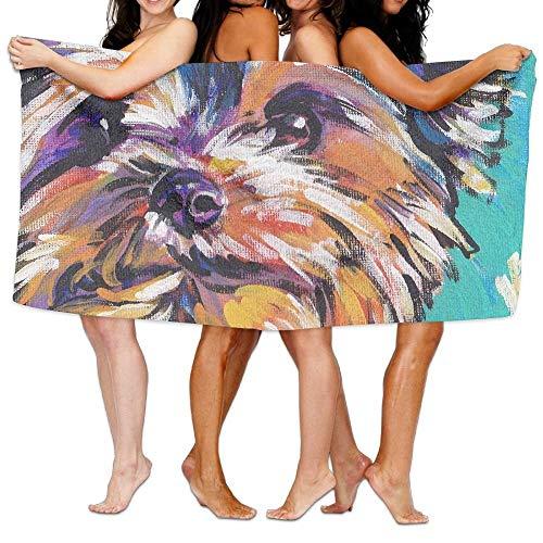 Yorkshire Terrier Badetuch Hotel & Spa extra saugfähiges Handtuch 31,5 x 51,2 für Strand & Bad -