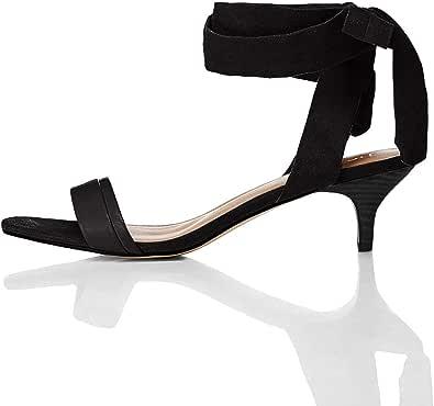 Marchio Amazon - find. - Tie Up Sandal, Sandali punta aperta Donna