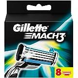 Gillette Mach3-Cuchillas de afeitar, 8 unidades para hombre