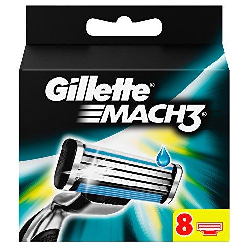 Gillette Mach3 Lame per Rasoio da Uomo, 8 Pezzi