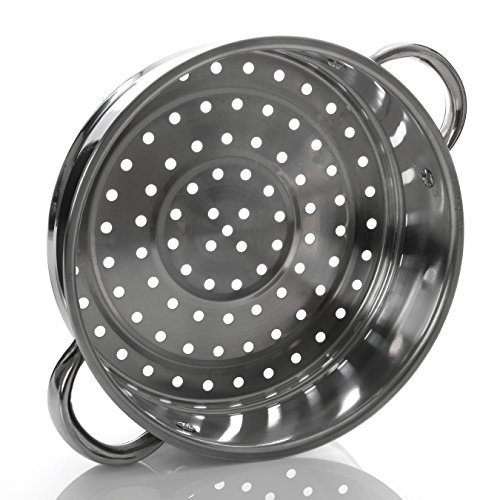 Premier Housewares Stainless Steel Steamer with Glass Lid, 22 cm Img 3 Zoom