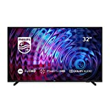 Televisor LED Philips 32PFS5823/12 de 80 cm (32 Pulgadas) con tecnología led, Full HD, Pixel Plus HD, Dolby Audio, Smart TV y HDMI, Color Plata Claro