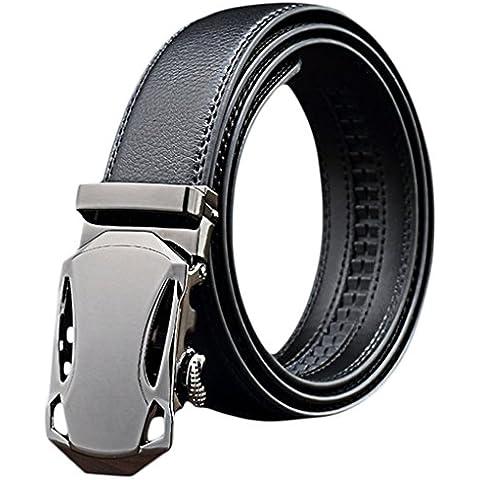 EOZY-Cintura Uomo PU Pelle Automatica Fibbia Cinghie con Chiusura Fascia