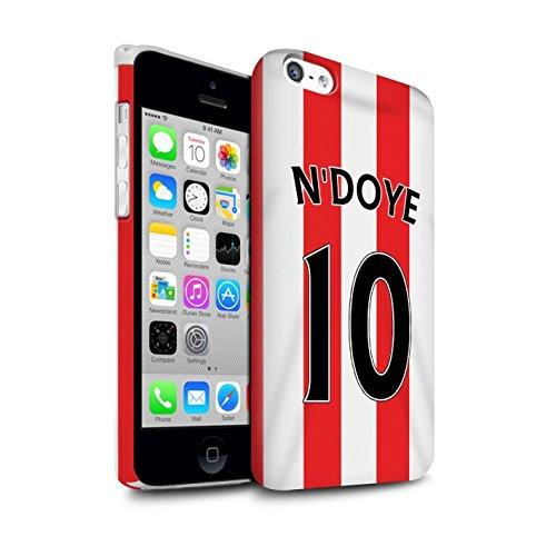 Offiziell Sunderland AFC Hülle / Matte Snap-On Case für Apple iPhone 5C / Pack 24pcs Muster / SAFC Trikot Home 15/16 Kollektion N'Doye