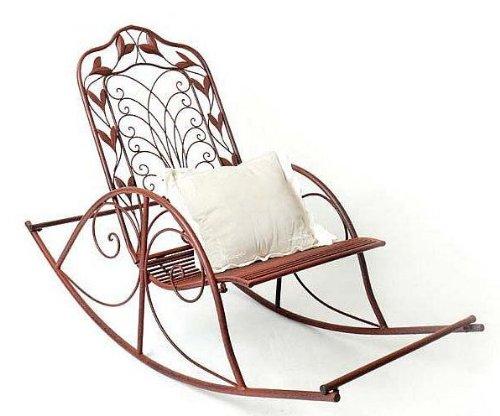 NUEVO mecedora Silla de jardín silla de relax de hierro forjado