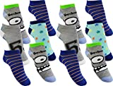 12 Paar Jungen Sneaker Kinder Socken 95% Baumwolle Bunter Mix