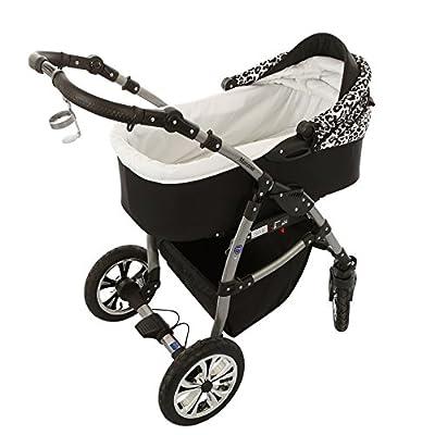 Milk Rock Baby Macano 3 in 1 Cochecito Combinado con 3 colores diferentes para el marco (asiento del coche, cubierta para la lluvia, mosquitero, ruedas giratorias de 20 colores)