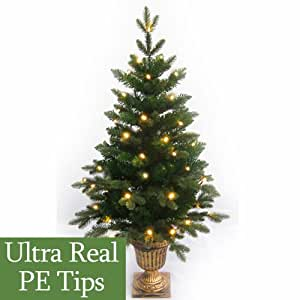 4ft Pre Lit Slim Pe Artificial Christmas Tree Amazon Co