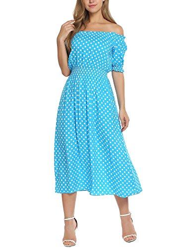 Meaneor Damen Elegantes Spitzen kleid Maxi Sommerkleider Etuikleid Partykleider Abendkleid mit Spitze