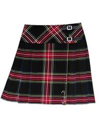 kilt/jupe pour femme - tartan Stewart - noir - 51 cm (longueur)