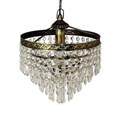 Stilvoller Kronleuchter 25cm Deckenleuchter Leuchter Deckenlampe Lampe von Ambiance - Lampenhans.de