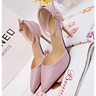 Zhenfu Femmes Sandales Printemps Confort Pu Casual Blushing Rose Noir Blanc Blush Rose