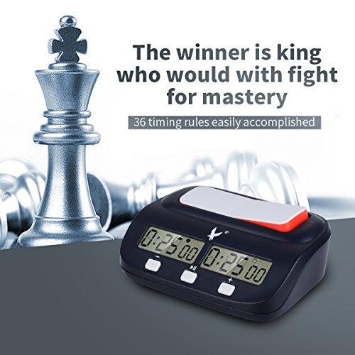 CkeyiN;Digital Display Schachuhr Count-Down Timer für internationales Schach, chinesisches Schach, Schach gehen mit 37 Timing Regeln