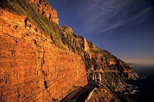 The Poster Corp Nik Wheeler/DanitaDelimont - South Africa Cape Peninsula. Chapmans peak drive cliffs Photo Print (88,44 x 58,75 cm) -