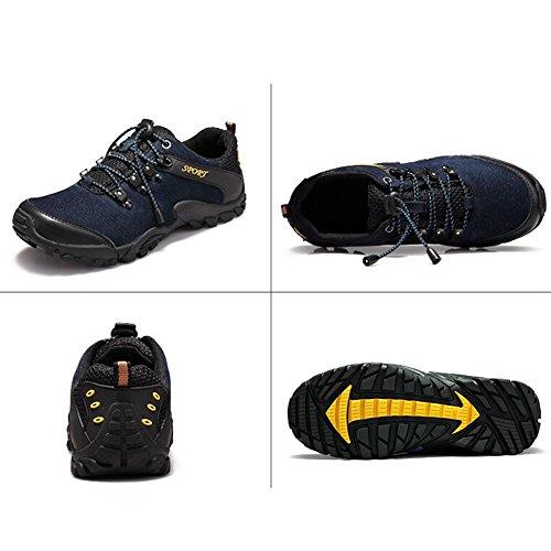 Scarpe Casual Maschile Dress Alpinismo Autunno All'aperto Fondo Morbido Scarpe Sport Slip On Marrone-nero Blu