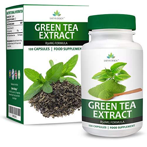Extrait de Thé Vert - 850mg Thé Vert Pur avec EGCG - Dose Maximum - Green Tea Extract - Pour...