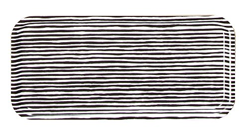 Marimekko VARVUNRAITA Tray 15X32CM White, Black