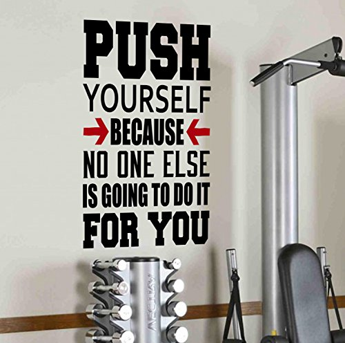 Sich, weil niemand sonst tun wird, ES für Sie Wand Aufkleber Motivational quote-health und Fitness Spinning Kettlebell Crossfit Workout Boxen UFC - Quotes Wand-aufkleber Inspirational