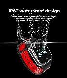 Hangang QW11 Smart Armbanduhr Bluetooth Smartwatch Smart Uhren wasserdicht Fitness Tracker Herzfrequenz Armbanduhr Blutdruckmessgerät Schlaf Monitoring abnehmbarer Tisch Bewertung Armbanduhr Fitness Tracker Armband IP67 Bluetooth, rot
