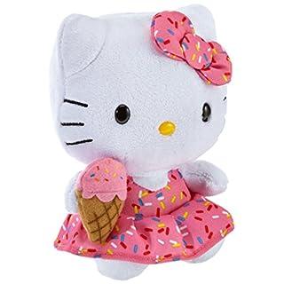 TY 7142090 - Hello Kitty Baby - Eiscreme, rosa Kleid mit Eiswaffeltüte, Beanie Babies, 15 cm