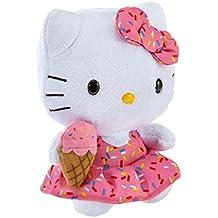 Hello Kitty - Peluche con helado, 15 cm, color rosa (TY 42090TY)