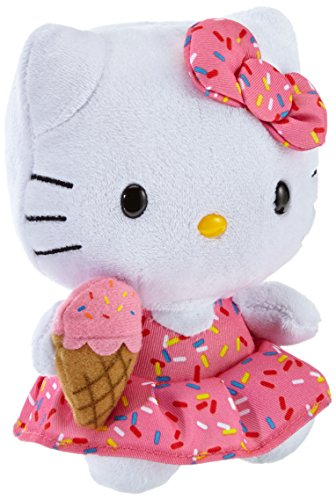 Hello Kitty - Peluche con helado, 15 cm, color rosa (TY 42090TY)
