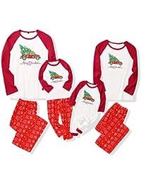 puseky Pijamas de Navidad Conjuntos de Ropa Familiar a Juego de Navidad para bebés, niños, papá, mamá