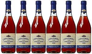 Cavicchioli and Figli Lambrusco Rosato Dulce IGT Emilia Non Vintage 75 cl (Case of 6)