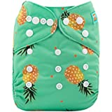 Alva Baby Cloth Diaper One Size Adjustable Reuseable Washable Nappy One Pack With 2 Inserts H074