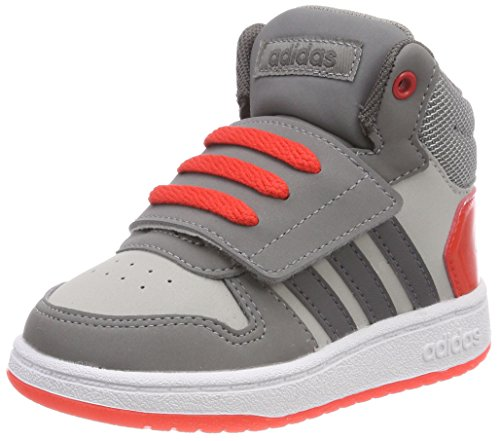 adidas Vs Hoops Mid 2.0, Sneakers Basses Mixte Bébé, Schwarz (Schwarz), 36 2/3 EU
