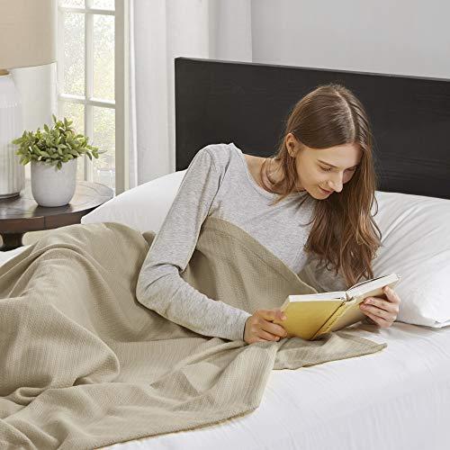Madison Park Premier Komfort Liquid Baumwolle Decke, Full/Queen, Bettwäsche - Premier Queen Baumwolle
