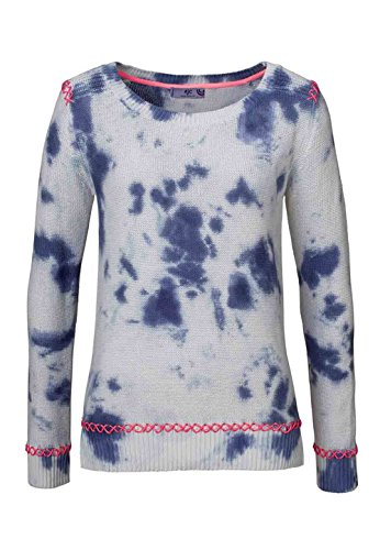 AJC Damen-Pullover Batik-Pullover Baumwoll-Pullover jeansblau-grau Gr. 44/46