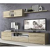 LIQUIDATODO ® - Muebles de salon modernos y baratos en color cambrian/blanco - dimas