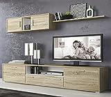 LIQUIDATODO  - Muebles de salon modernos y baratos en color cambrian/blanco - dimas