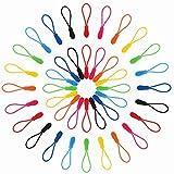 Reißverschlußanhänger,56 Stück Reißverschluss Verlängerung Zipp Puller Reißverschlussverlängerung mit Griffen für Rucksack Kleidung Sportswear TPU Nylon 2.5X0.9CM 28 Farben