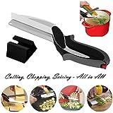 Aliments Ciseaux, Clever alimentaire Chopper Cutter 2 en 1 - Remplacer vos couteaux de cuisine et planches à découper, complément alimentaire pour bébé, ciseaux