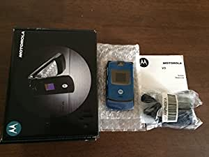 Motorola RAZR V3 in BLUE Sim Free UNLOCKED Mobile Phone Boxed with Accessories by Motorola