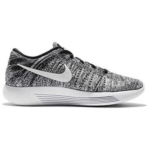 Nike Lunarepic Low Flyknit, Chaussures de Running Entrainement Homme Blanco (Blanco (black/white))